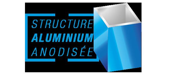 Structure aluminium anodisée